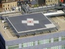 Hospital rooftop helipad